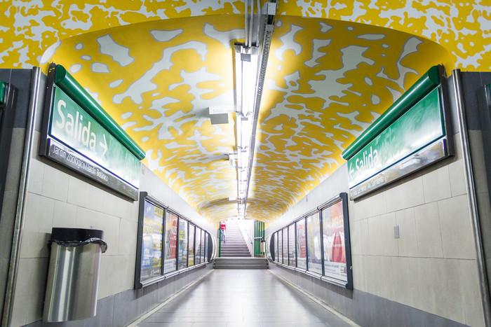 Arte urbano en el subte