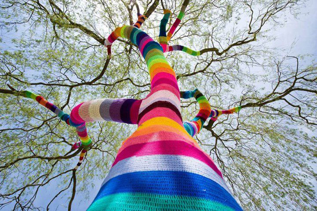 Guerrilla Knitting o Yarn Bombing