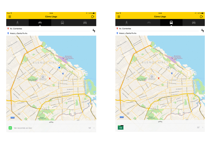 App para viajar en Buenos Aires